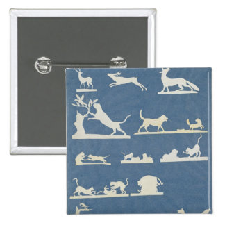 Animal Scenes and Playing Cats 2 Inch Square Button