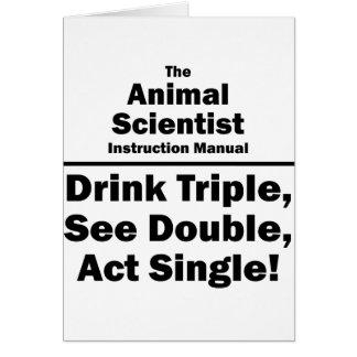 animal scientist card