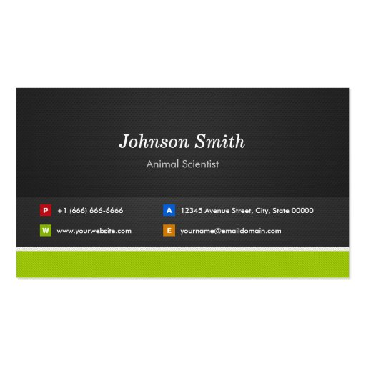 Animal Scientist - Professional and Premium Business Card