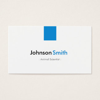 Animal Scientist - Simple Aqua Blue Business Card