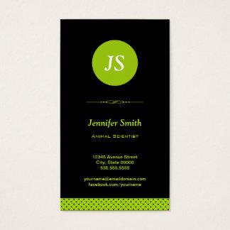 Animal Scientist - Stylish Apple Green Business Card