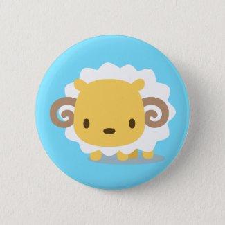 Animal sheep can badge button