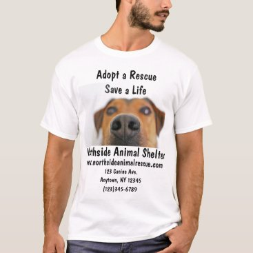 Professional Business Animal Shelter Adopt A Pet Rescue Center Shirt