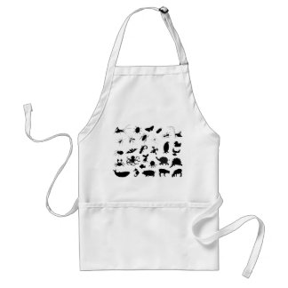 Animal Silhouettes Adult Apron