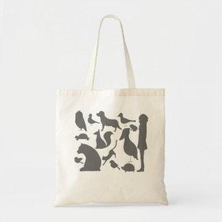 animal silhouettes tote bag