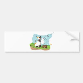 Animal singing bumper stickers