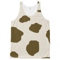Animal skin Brown Cow Spots All-Over-Print Tank Top