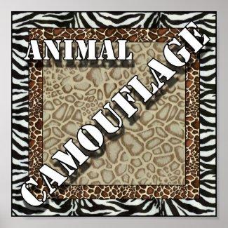 Animal Skin Camouflage Background print