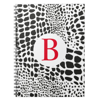 Animal Skin in Black and White Notebook