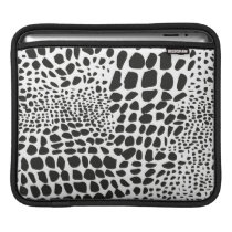Animal Skin in Black and White Sleeve For iPads