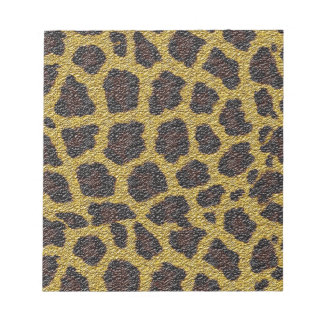 animal skin pattern and colors note pad