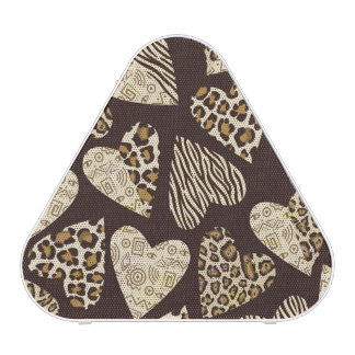 Animal skin with hearts bluetooth speaker
