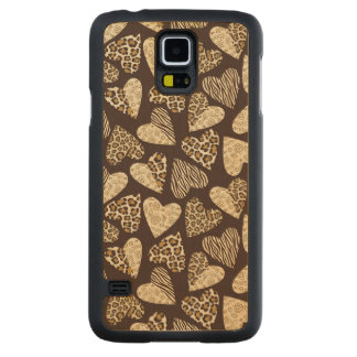 Animal skin with hearts carved® maple galaxy s5 case
