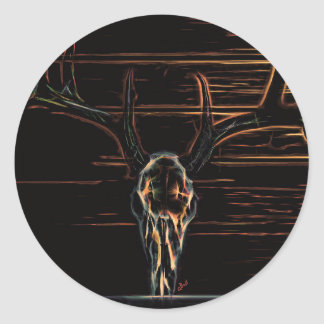 Animal Skull Classic Round Sticker