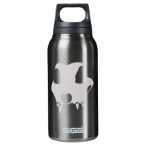 animal skull insulated water bottle