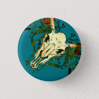 Animal Skull Pinback Button