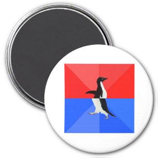 Animal social confuso Meme del consejo del pingüin Imán Redondo 7 Cm