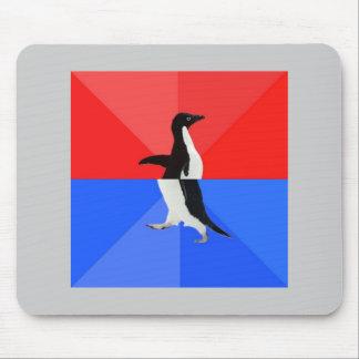 Animal social confuso Meme del consejo del pingüin Alfombrillas De Raton