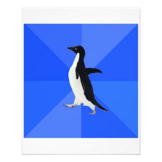 "Animal social torpe Meme del consejo del pingüino Folleto 4.5"" X 5.6"""