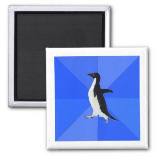 Animal social torpe Meme del consejo del pingüino Imán Cuadrado