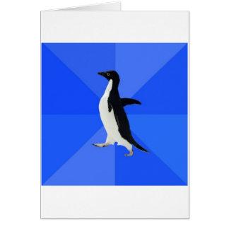 Animal social torpe Meme del consejo del pingüino Tarjeta De Felicitación