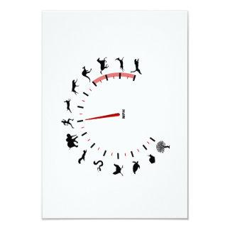 animal speedometer custom invitation
