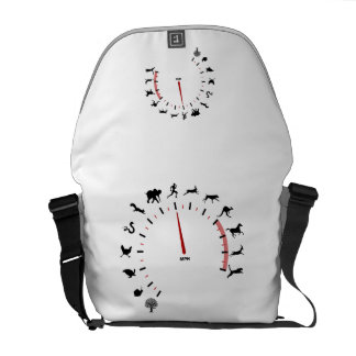 animal speedometer courier bag