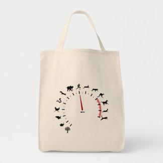 animal speedometer tote bag