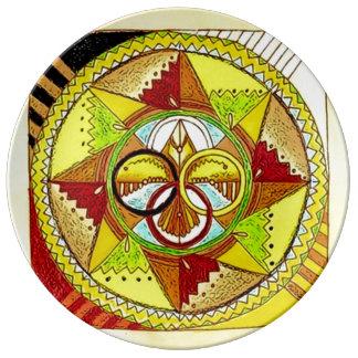 Animal Spirit Mandala Porcelain Plates