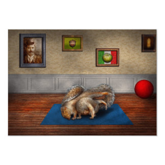 "Animal - Squirrel - And stretch Two Three Four 5"" X 7"" Invitation Card"