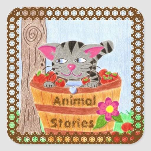 Animal stories books stickers
