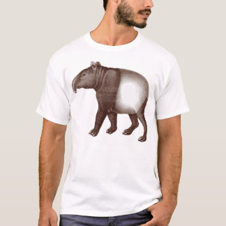 Animal T-Shirt - Asian or Malaysian Tapir