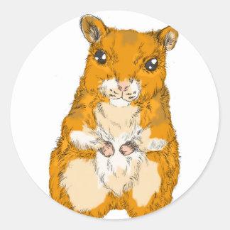 Animal Talk Hamster Classic Round Sticker