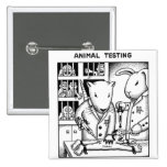 Animal Testing 2 Inch Square Button