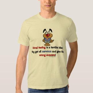 Animal Testing Humor Tee Shirt