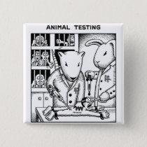 Animal Testing Pinback Button