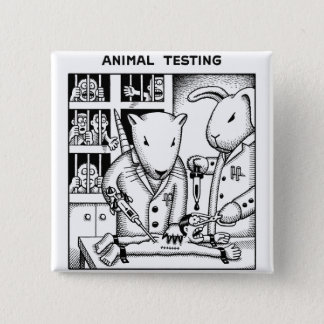 Animal Testing Pinback Button
