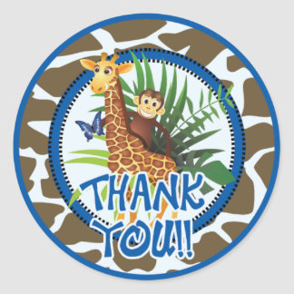 Animal Thank You Stickers