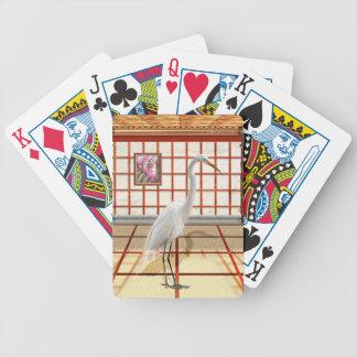 Animal - The Egret Bicycle Poker Deck