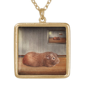 Animal - The guinea pig Square Pendant Necklace