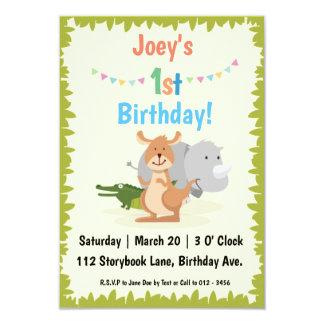 Animal-Themed Children's Birthday Party Invitation