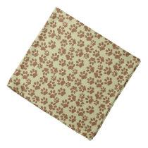 animal-themed dogpaw pattern bandana