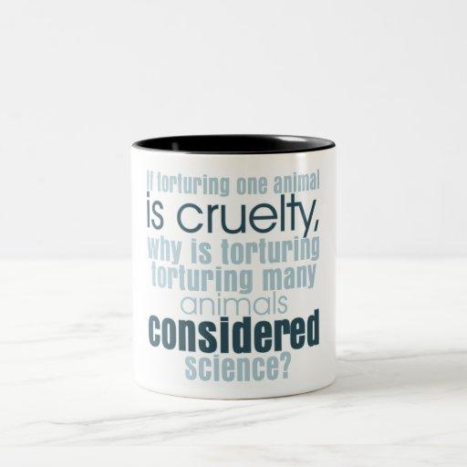 Animal Torture Two-Tone Coffee Mug
