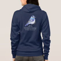 Animal Totem Blue Jay Inspirational Nature Guide Hoodie