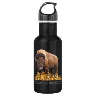 Animal Totem Spiritual, Bison, Buffalo Inspiration 18oz Water Bottle