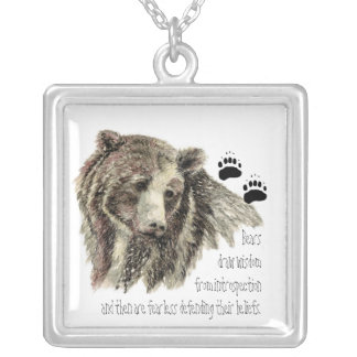Animal Totems, Encouragment and Inspiration Square Pendant Necklace
