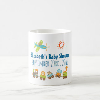 Animal Toy Train and Airplane Baby Shower Coffee Mug
