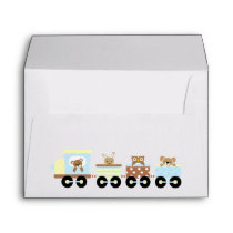 Animal Toy Train Envelope