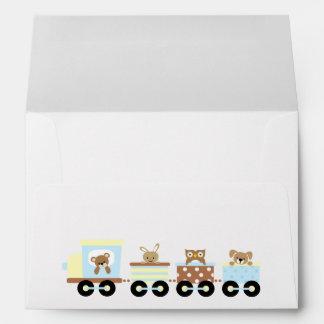 Animal Toy Train Envelope