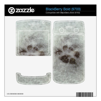 Animal track in the snow BlackBerry decal